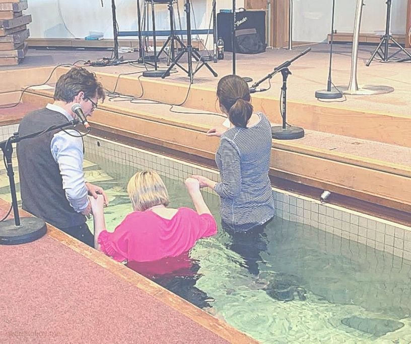 going into the water - adult baptism - overwhelmed @wordsofjoy.me