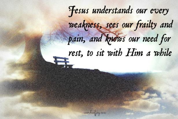 rest with Jesus WoJ pin