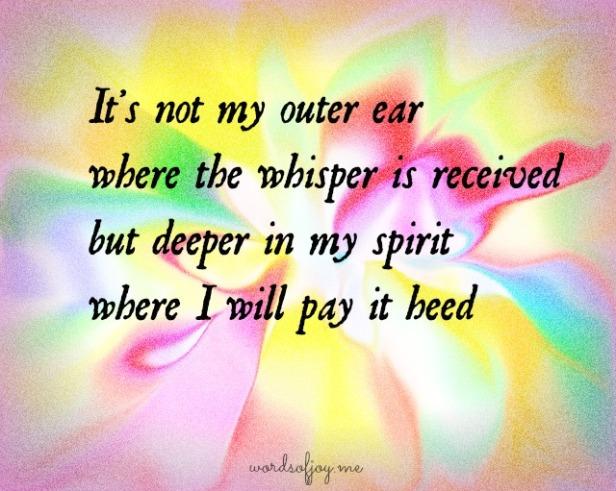 awakening to whisper poem WoJ