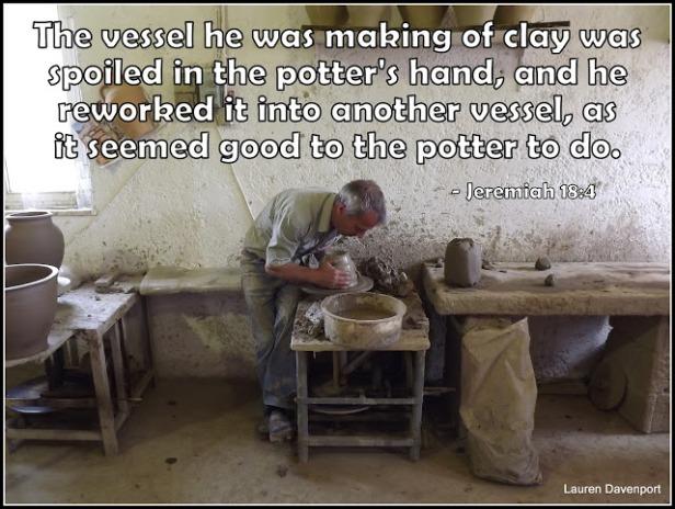 speak - potter and clay image - bible verse @wordsofjoy.me