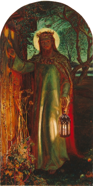 door - light of the world by holman hunt @wordsofjoy.me