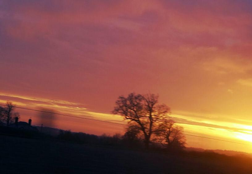 return - wonder - winter sunset - Advent (C)joylenton @wordsofjoy.me