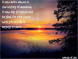 dawn - season - Advent poem excerpt - sunset - trees - lake