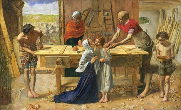 Joseph - (C) John_Everett_Millais_-_Christ_in_the_House_of_His_Parents_(`The_Carpenter's_Shop')_-_Google_Art_Project