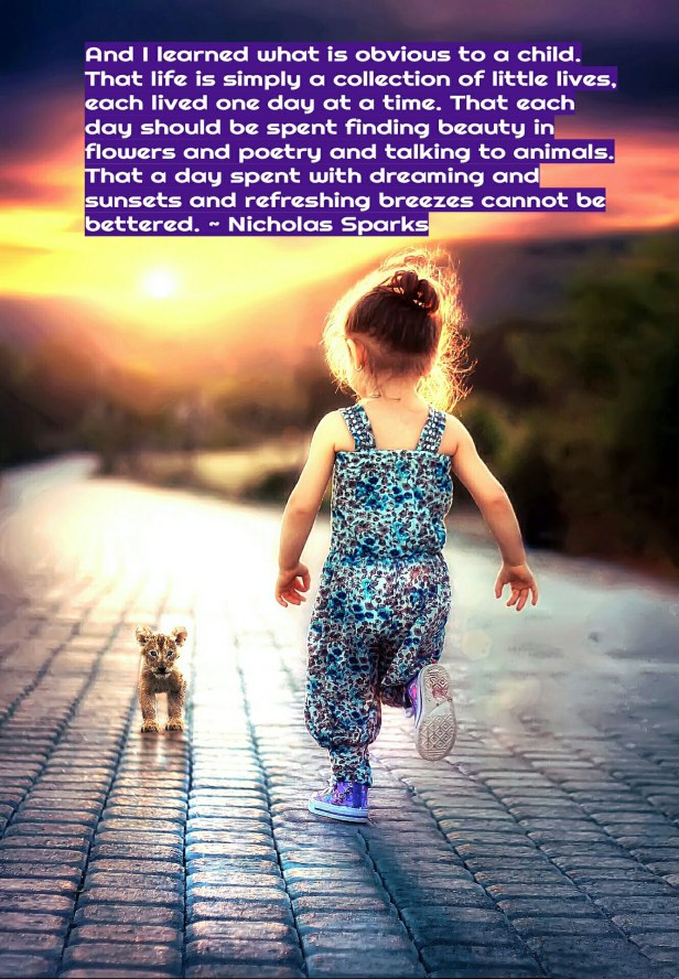 simplicity - girl walking in sunset -Nicholas Sparks quote #soulsimplicity @wordsofjoy.me