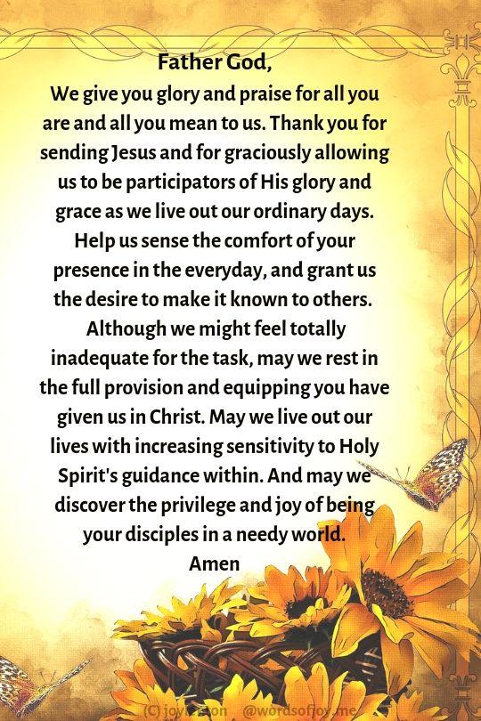 butterfly - sunflowers - faith and surrender prayer giving God the glory and praise (C) joylenton @wordsofjoy.me