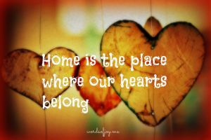 home is where our hearts belong pin