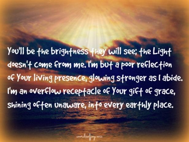 God's radiance prayer WoJ
