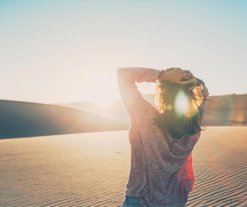 creativity - why we needn't fear barren seasons - woman in the desert image
