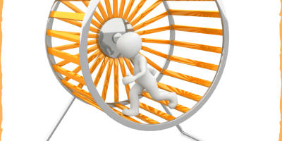 man running on hamster wheel - attentive - when you need to get off the hamster wheel @wordsofjoy.me