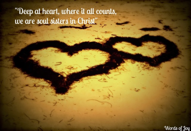 hearts entwined - soul sisters and friends in need @wordsofjoy.me
