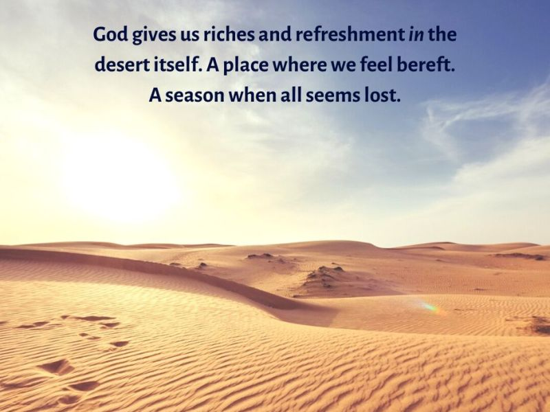 desire - desert -sunlight - sand - God gives us riches and refreshment in the desert itself quote (C) joylenton @joylenton.com