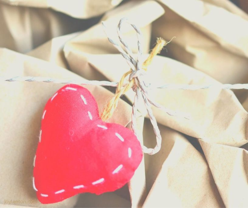love - wrapping paper package - heart - when loves comes wrapped up in a tiny gift @joylenton.com