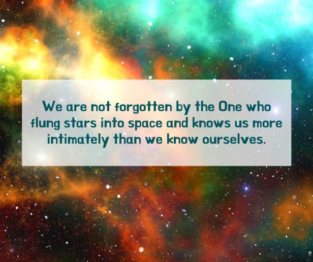 weakness - universe - we are not forgotten quote (C) joylenton @joylenton.com