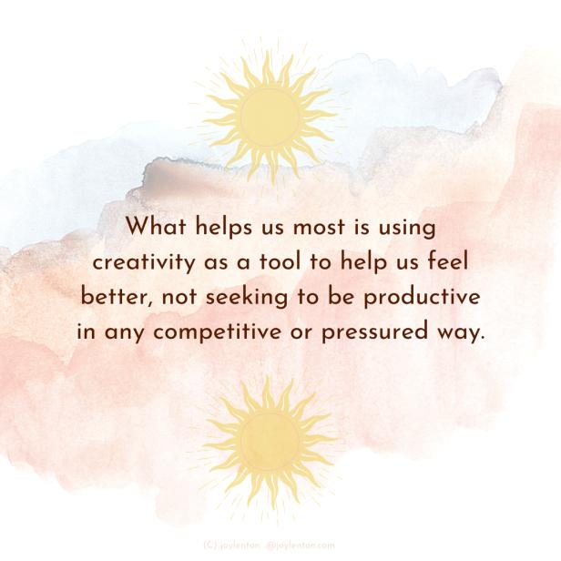 creativity - faded watercolours - sun - what helps us most quote (C) joylenton @joylenton.com