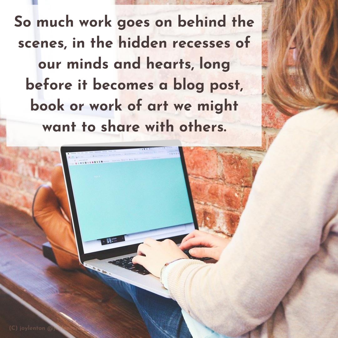 perseverance - So much work goes on behind the scenes quote (C) joylenton @joylenton.com